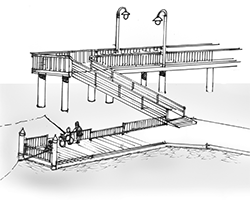 fishing dock on the sea